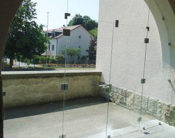Installations en verre trempé